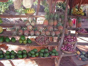 A fruit stall in Uganda